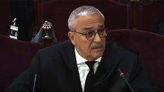 El abogado de Joaquim Forn, Xavier Melero, durante su intervención en la fase final de informes de las defensas en el juicio del 'procés' en el Tribunal Supremo.