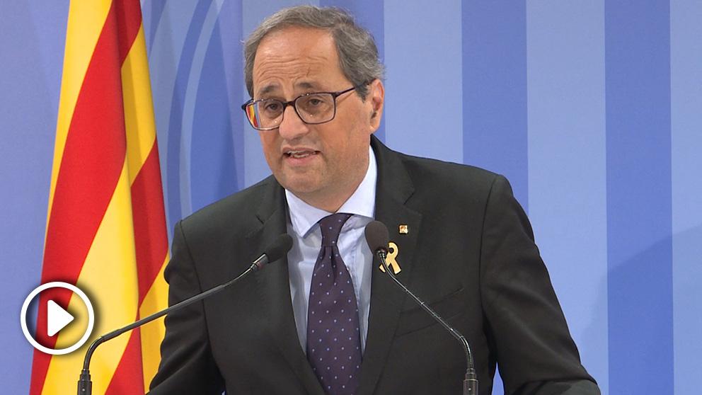 Quim Torra, presidente de la Generalitat. (Foto: Europa Press)