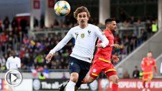 Antoine Griezmann con Francia ante Andorra (AFP)