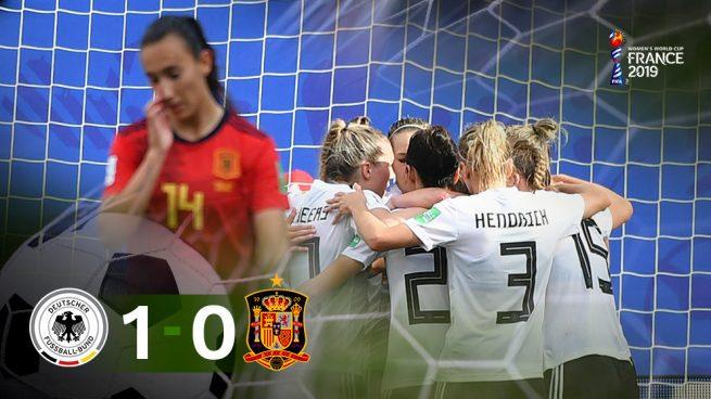 España no puede con Alemania y se la jugará contra China