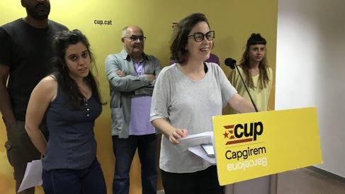 Dirigentes de la CUP en rueda de prensa @EP