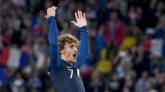 Antoine Griezmann durante un partido de la selección francesa (AFP).