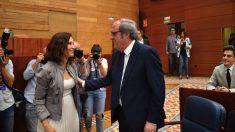 Isabel Díaz Ayuso y Ángel Gabilondo en la Asamblea de Madrid. (Foto. PSOE)