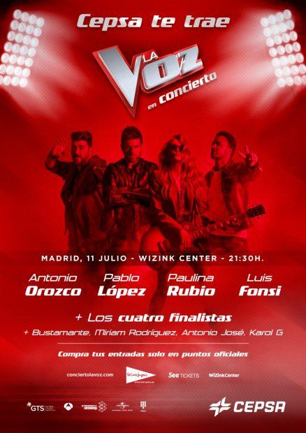 Así será el concierto de 'La Voz' en Madrid