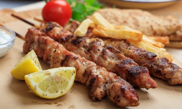 Kebab de cerdo casero