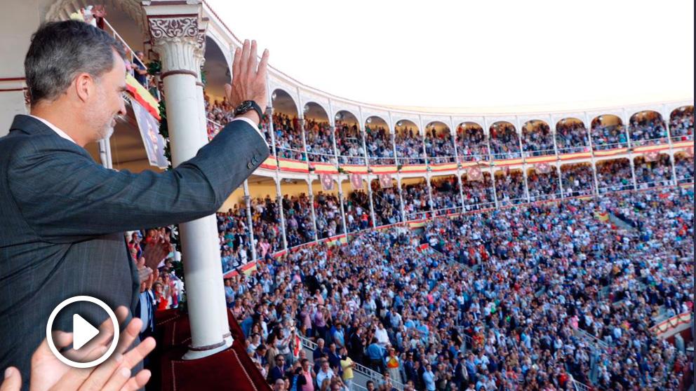 Felipe VI en Las Ventas (Foto: Casa del Rey)