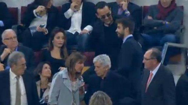 Risto acude a los palcos del Barça y del Madrid al que su programa señala como «centro de poder» y «corruptelas»