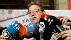 El president de la Generalitat, Ximo Puig, atiende a los medios de comunicación con motivo del Día Mundial de la Radio,y en el que se ha referido, entre otras cuestiones, al posible adelanto electoral si no se aprueban los Presupuestos.EFE/ Juan Carlos Cárdenas