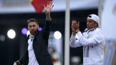 Sergio Ramos y Cristiano Ronaldo. (Getty)