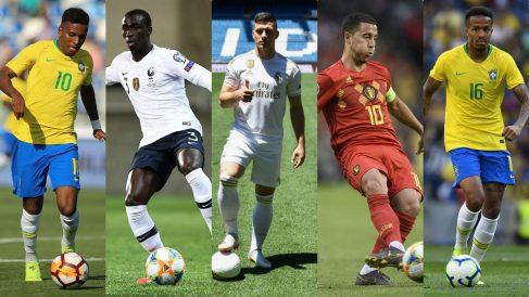 Los cinco fichajes del Real Madrid para la temporada que viene.