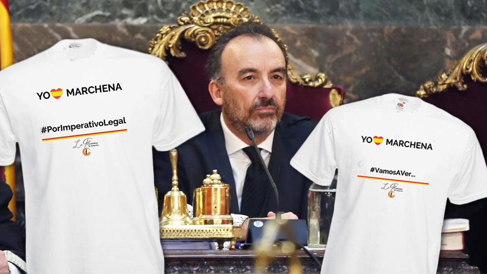 Las camisetas del juez Manuel Marchena.