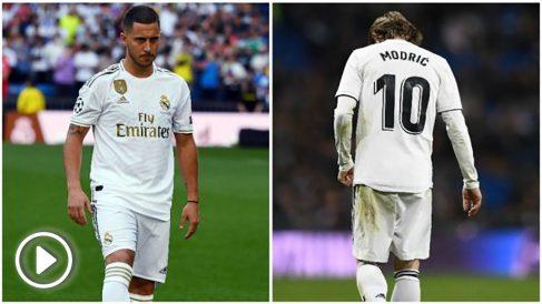 Hazard y Modric. (AFP)