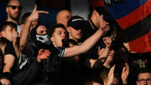 Hooligans del Crystal Palace. (Getty)
