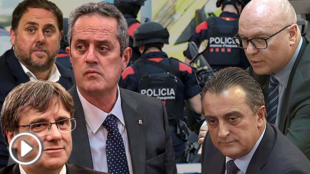Los mandos de los Mossos, Castellví y Quevedo, incriminan a Puigdemont, Junqueras y Forn en el 1-O