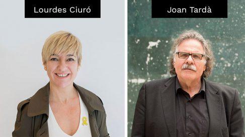 La concejal de JxCAT en Sabadell, Lourdes Ciuró, y el ex diputado de ERC, Joan Tardà