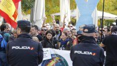 Policía Nacional en una manifestación. Foto: EP