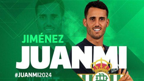 Juanmi Jiménez, nuevo fichaje del Betis (@RealBetis)