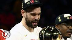 Marc Gasol se proclamó campeón de la NBA.