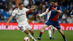 Marcos Llorente en un partido contra el Huesca /@Marcosllorente)