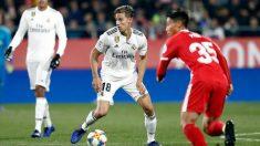 Marcos Llorente en un partido con el Real Madrid (@Marcosllorente)