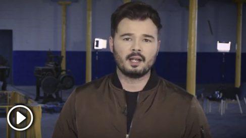 Gabriel Rufián en el programa piloto de 'La Fábrica'