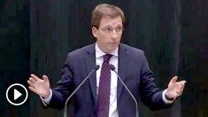 Martínez-Almeida durante su discurso de investidura.