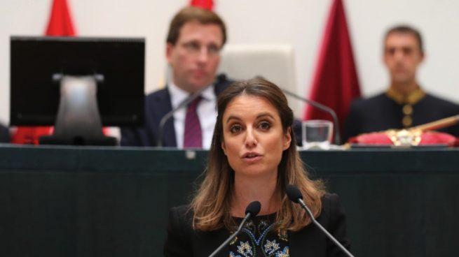 Andrea Levy en la sesión de investidura. (Foto. Madrid)
