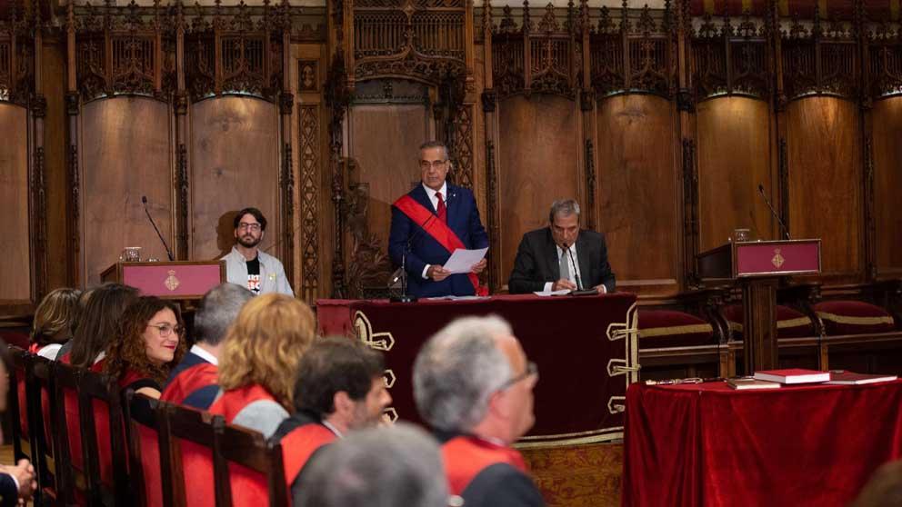 Josep Bou en el Ayuntamiento de Barcelona. Foto: Europa Press