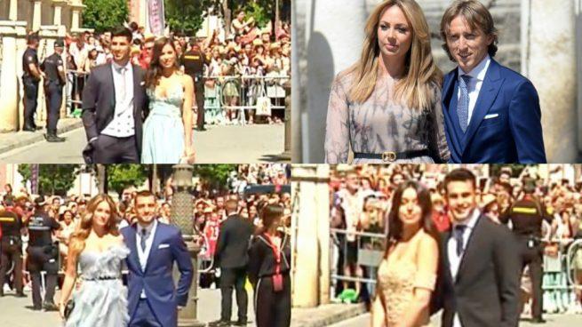 Así fue la llegada de los jugadores del Real Madrid a la boda de Sergio Ramos