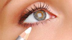 Pasos para saber cómo utilizara el lápiz blanco para agrandar los ojos