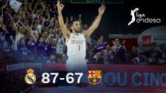 El Real Madrid golpea primero en la final de la Liga Endesa.