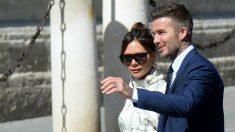 David Beckham y Victoria asistieron a la boda de Sergio Ramos. (AFP)