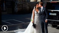 Sergio Ramos y Pilar Rubio ya son marido y mujer. (AFP)