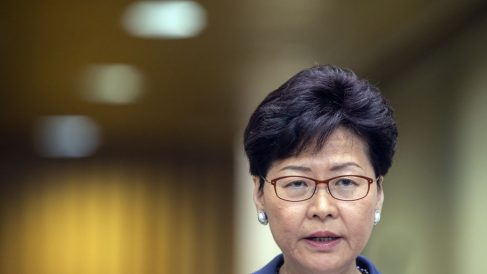 Carrie Lam, jefa de Gobierno de Hong Kong. @Getty