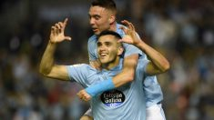 Maxi Gómez celebra un gol con Iago Aspas (@Gomez_maxi9)