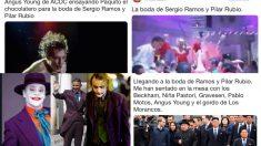 Los mejores memes de la boda de Sergio Ramos y Pilar Rubio.