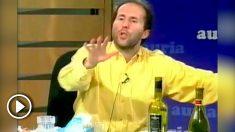 El próximo alcalde de Orense durante su participación en el polémico debate de 2008.