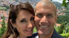 Zidane y su mujer en Bilbao.