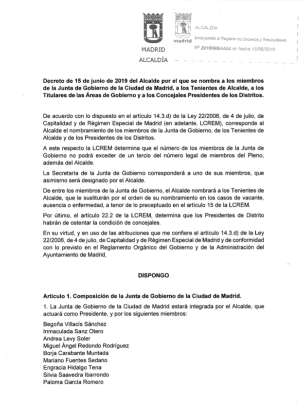 El PP dará tres presidencias de distrito a Vox en Madrid: Chamberí y Salamanca entre ellas