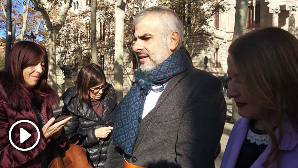 El portavoz de Ciudadanos, Carlos Carrizosa. Foto: Europa Press
