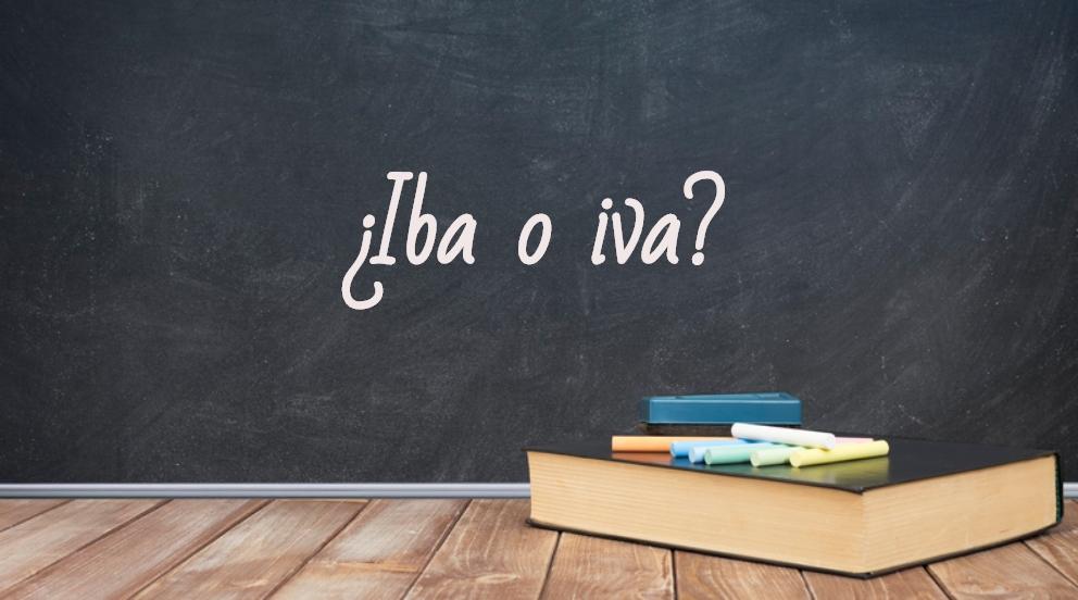 Cómo Se Escribe Iba O Iva