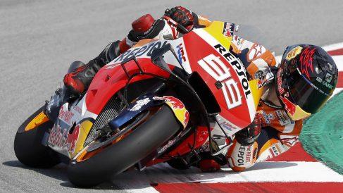 Jorge Lorenzo durante el Gran Premio de Cataluña de MotoGP. (EFE)