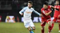 Maxime López en un partido contra el Dijon (AFP)