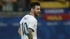 Messi, durante un partido de la Copa América. (AFP)