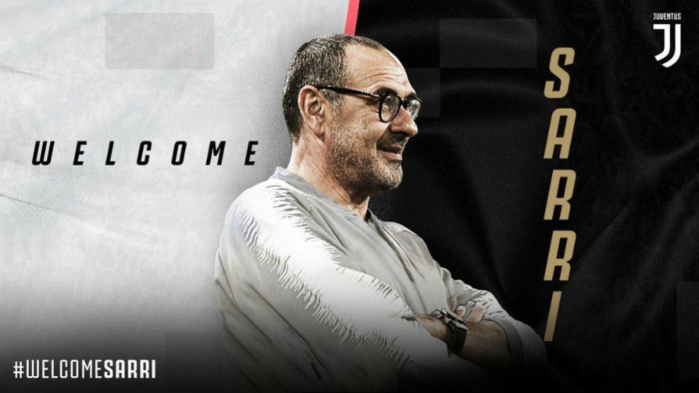 Sarri, nuevo entrenador de la Juventus.