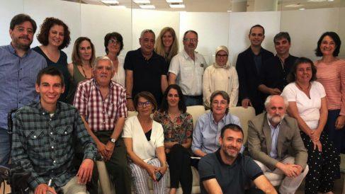 Concejales de Más Madrid con Rita Maestre y Marta Higueras al frente. (Foto. ḾM)