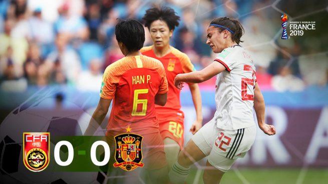 España empata contra China y logra un histórico pase a octavos