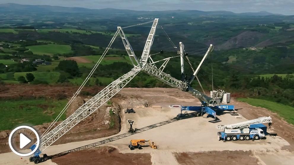 Endesa, a través de su división de energías renovables Enel Green Power ha comenzado la construcción del parque eólico Paradela (Foto: Endesa)