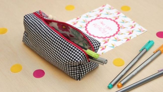 Cómo coser un estuche de tela
