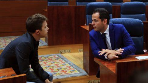Íñigo Errejón e Ignacio Aguado. (Foto. EFE)